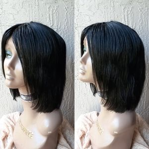 "10"" Brazilian virgin bob human hair wig"